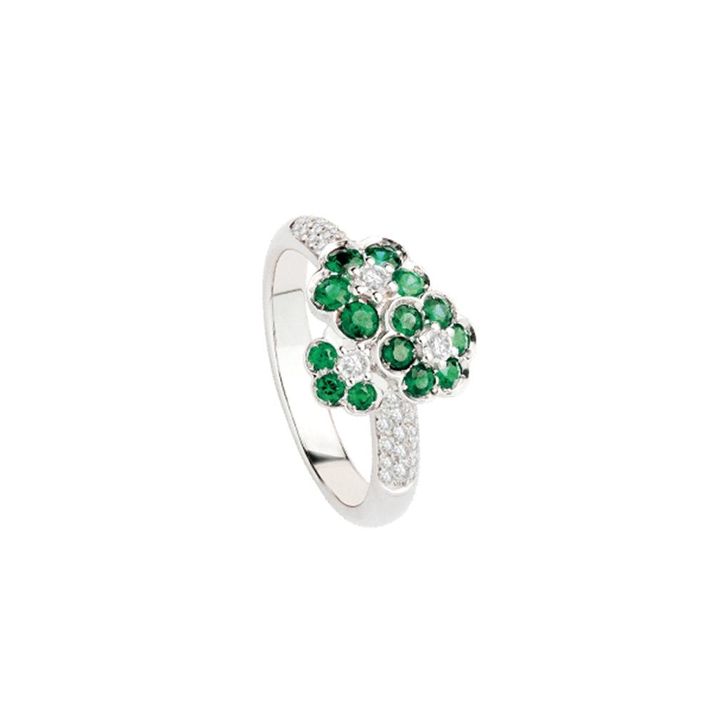 Anello con smeraldi Polello