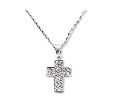 Croce maschile oro e diamanti